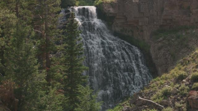Waterfall at Yellowstone National Park. video