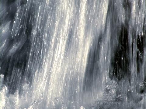 워터풀 배경, 흐름을 저수시설 조절음 - 클립 길이 스톡 비디오 및 b-롤 화면