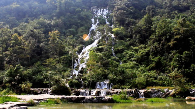waterfall in China. video