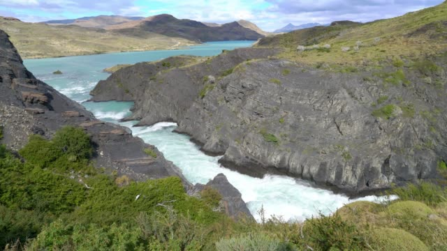 Waterfall in the Torres del Paine national park Waterfall in the Torres del Paine national park sorpresa stock videos & royalty-free footage