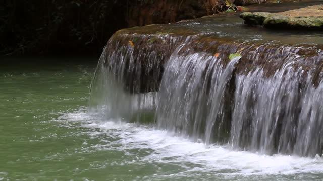 vídeos de stock, filmes e b-roll de cachoeira na floresta tropical - esmeralda