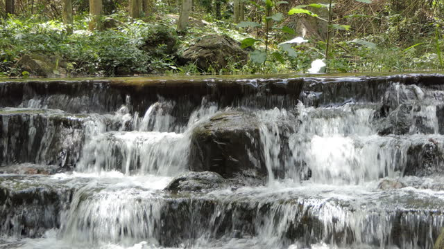 Waterfall in tropical rain forest. video