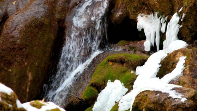 waterfall in winter video