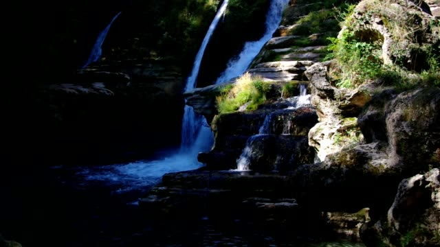 waterfall Navacelles, Herault southern France video
