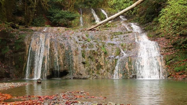 Waterfall of Bezumenka River, Sochi, Russia video