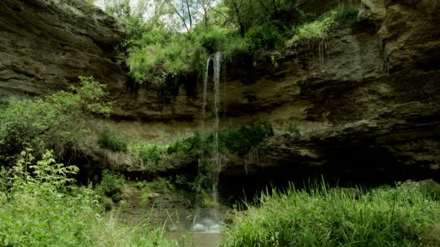 Waterfall on the rocks video