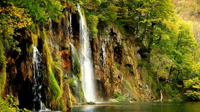 водопад. плитвицкие, хорватия - национальный парк плитвицкие озёра стоковые видео и кадры b-roll