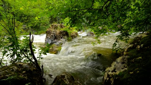 Waterfall, river, mountains, nature.  Crimea. video