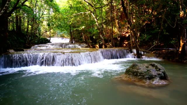 LD, Waterfall standing water in thailand, Huay or Huai mae khamin video