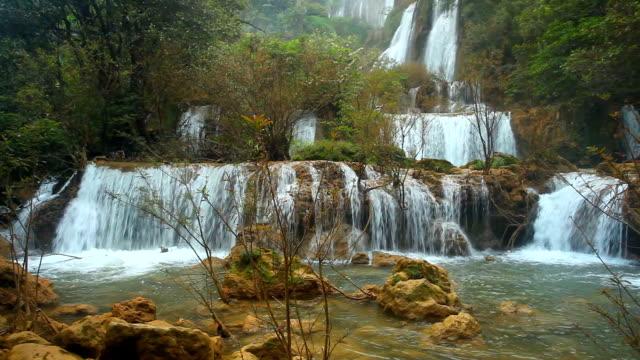 vidéos et rushes de cascade dans la forêt profonde theelorsu - randonnée équestre