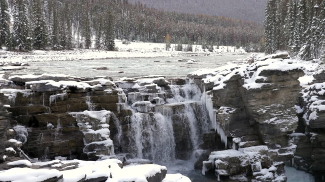 Waterfall winter season