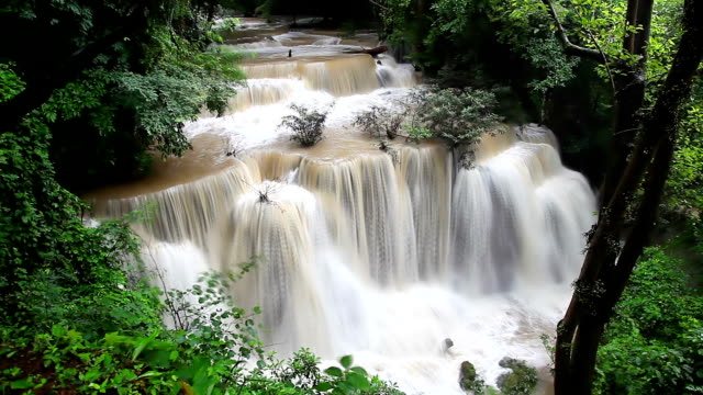Waterfalls in tropical forest video