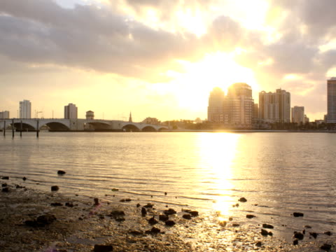 Waterfront City Sunset video