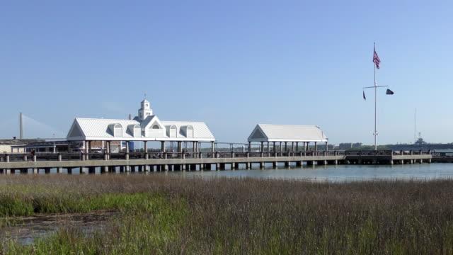 waterfront park - charleston, south carolina - wahrzeichen stock-videos und b-roll-filmmaterial