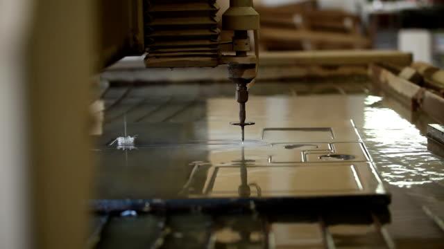 Waterjet metal cutter video