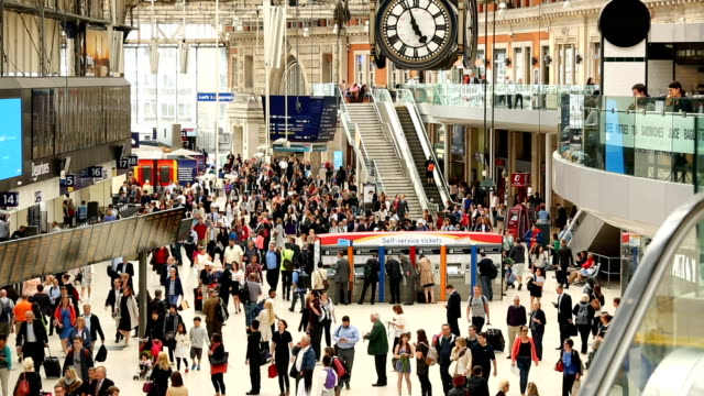 Waterloo Station in London, Time Lapse video