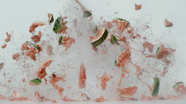 Watermelon explosion, Ultra Slow Motion Watermelon explosion, Ultra Slow Motion demolishing stock videos & royalty-free footage