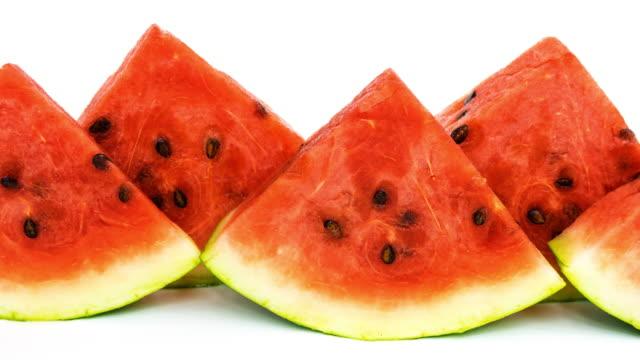 Watermelon on white video