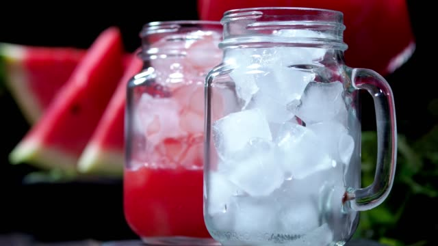 Watermelon smoothie Serving homemade watermelon smoothie watermelon stock videos & royalty-free footage