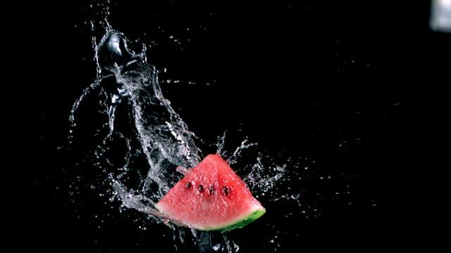 Watermelon splashing video