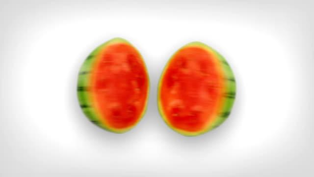 Watermelon Splits In Half video