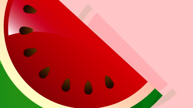 Watermelon Video animation Watermelon fruit Video animation, HD 1080 summer illustrations videos stock videos & royalty-free footage