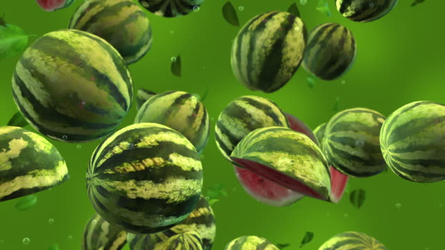 watermelons falling - slow motion - fruit stock videos and b-roll footage