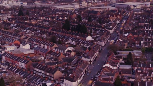 Watford at Dusk - Aerial View video