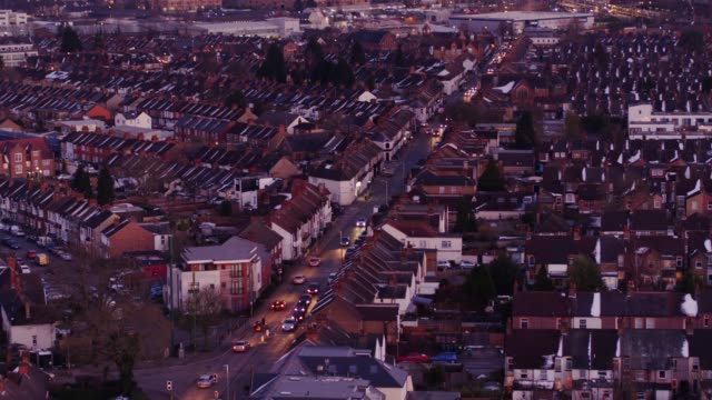 watford, england at twilight - aerial view - england stock videos & royalty-free footage