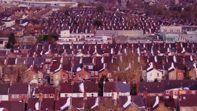 Watford, England in Winter from Above video