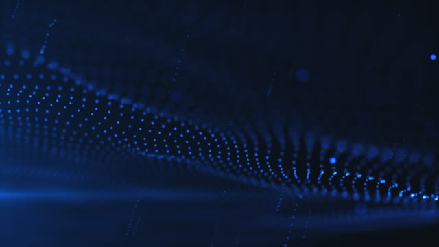 wave and particle background,blue color