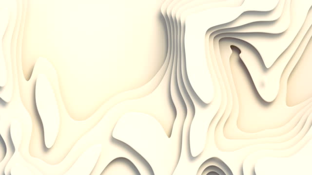 Wave bends white abstract background surface. 3d rendering digital loop animation. 4K, Ultra HD resolution