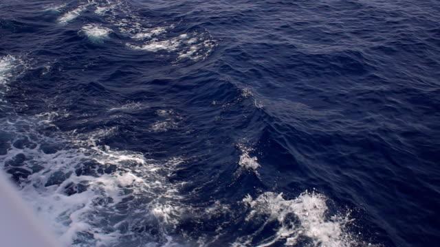 wave caused by a cruise ship. beautiful waves. - badawczy statek kosmiczny filmów i materiałów b-roll
