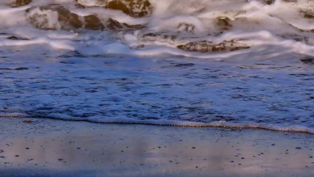 wave in beach slow motion video