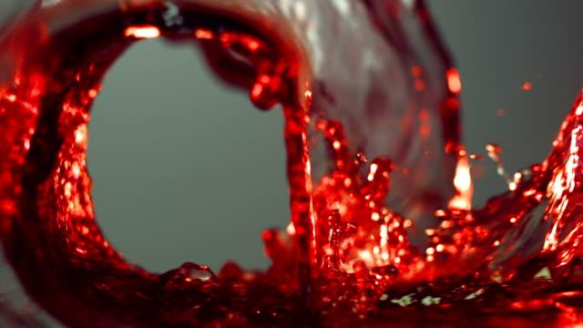 波のブドウの絞り汁 23 ml - ぶどう イラスト点の映像素材/bロール