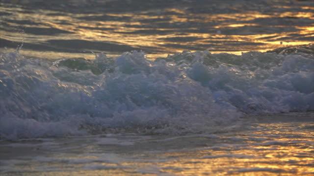 Wave On Sand Super Slow Motion