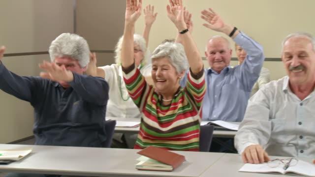 hd: wave on the seminar - mänsklig ålder bildbanksvideor och videomaterial från bakom kulisserna