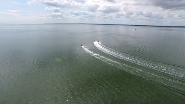 Waverunner pull water skier video