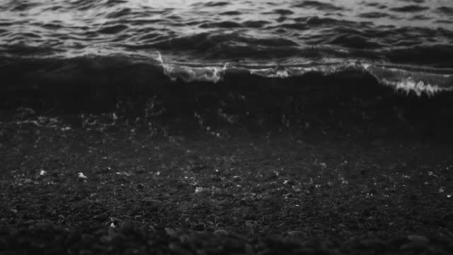 Waves and sea foam video