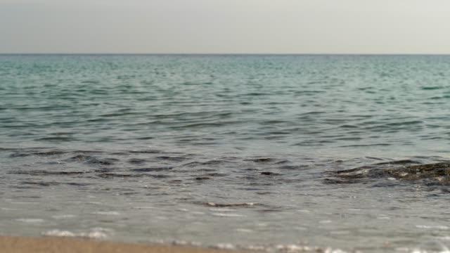 waves at sea close-up video