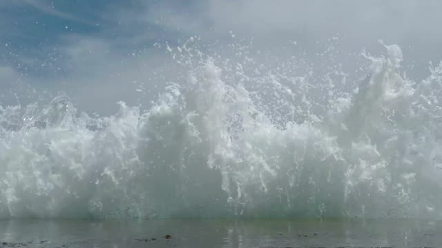 Waves Breaking on the Breakwater video