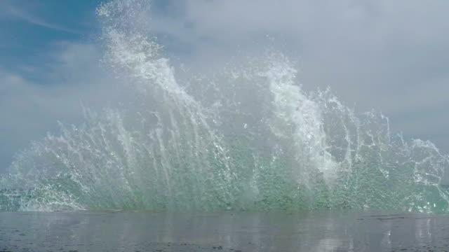 Waves Breaking on the Breakwater video