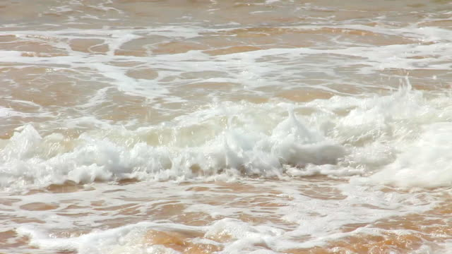 Waves Crashing On Beach video