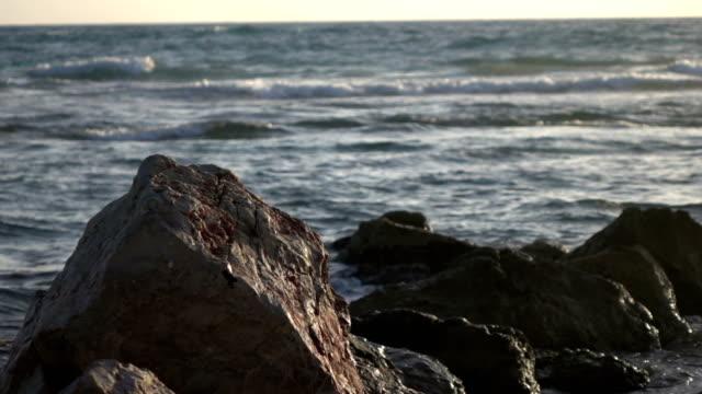 Waves Crashing on Rocks video