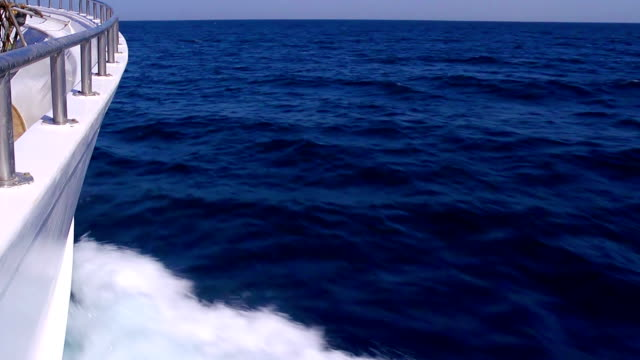 Waves from ship cutwater. video