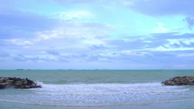 waves in small beaches at Sangchan beach