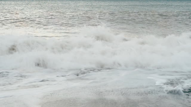 Waves of the sea storm video