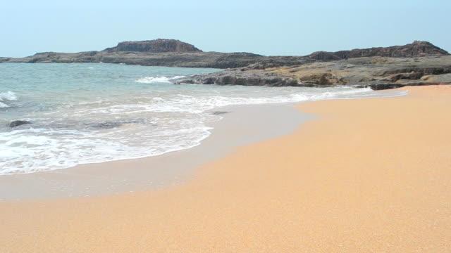 waves on sandy beach video