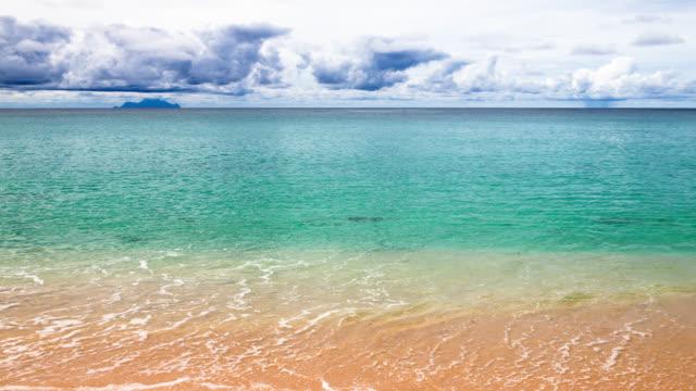 waves on the beach caribbean seaside st martin - saint martin caraibi video stock e b–roll