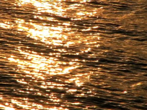 Waves Reflecting Sunset on Lake (HD_link_below) video